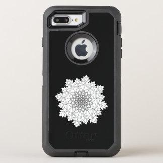 Flower Mandala. Vintage decorative elements. OtterBox Defender iPhone 8 Plus/7 Plus Case