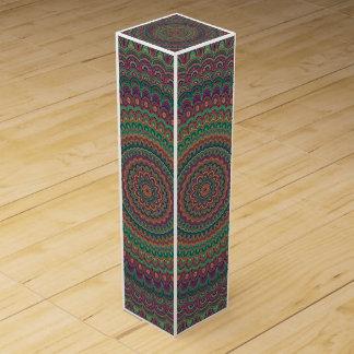 Flower mandala wine box