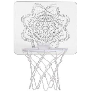 Flower Mandalas. Vintage decorative elements. Orie Mini Basketball Hoop