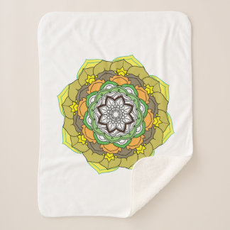 Flower Mandalas. Vintage decorative elements. Orie Sherpa Blanket