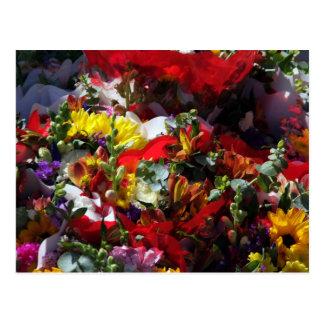Flower Market Postcard