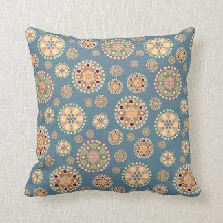 Flower Medallion Pattern Throw Pillow