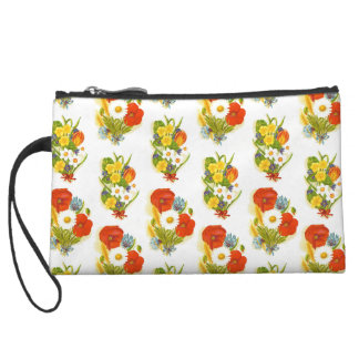 Flower Mini Clutch Wristlet Purses