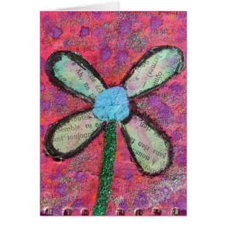 Flower Mixed Media Greeting Card