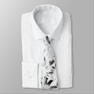 flower monochrome tie