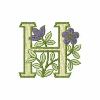 Flower Monogram Initial H