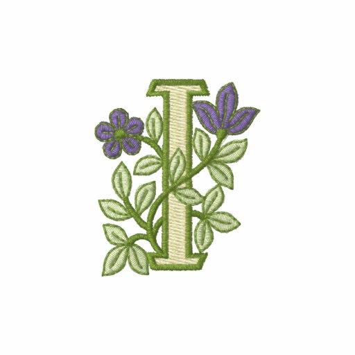Flower Monogram Initial I