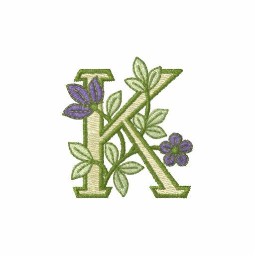 Flower Monogram Initial K
