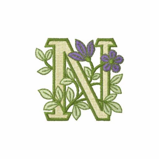 Flower Monogram Initial N
