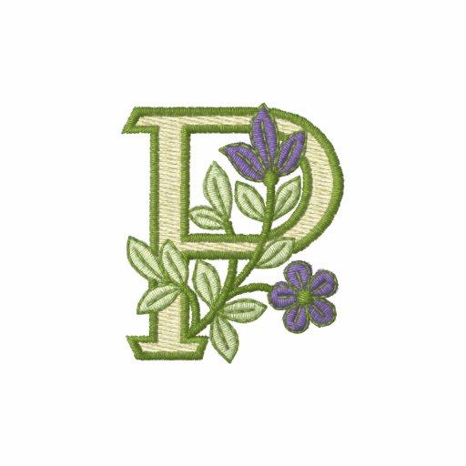 Flower Monogram Initial P