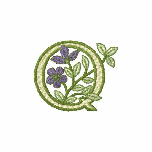 Flower Monogram Initial Q