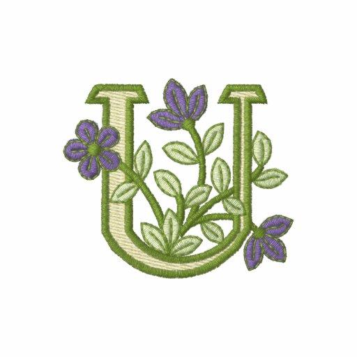 Flower Monogram Initial U