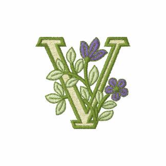 Flower Monogram Initial V