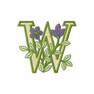 Flower Monogram Initial W