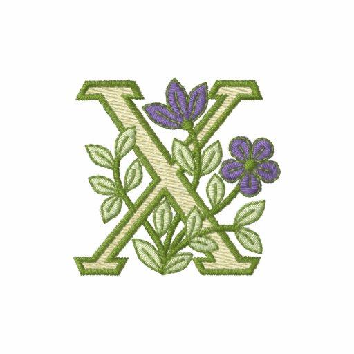 Flower Monogram Initial X