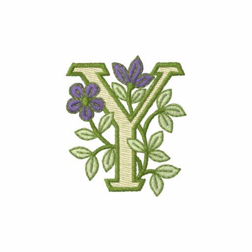 Flower Monogram Initial Y