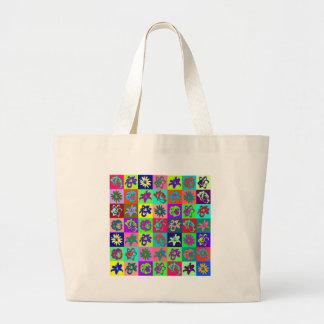 Flower mosaic bags