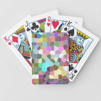 Flower Mosaic Bicycle Playing Cards