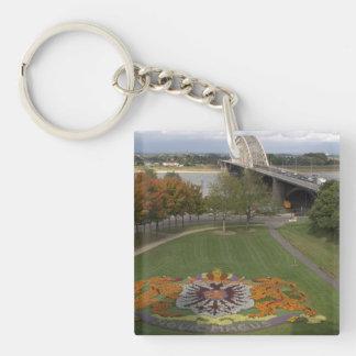 Flower mosaic, Nijmegen Key Ring