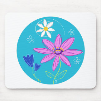 Flower Motif Mouse Mat