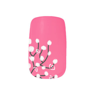 Flower nails minx nail art
