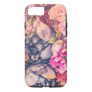 Flower Nation pink, and blue floral pattern iPhone 8/7 Case