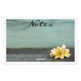 Flower Note Pad Custom Stationery