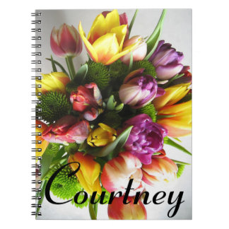 Flower Notebook with Customized Name