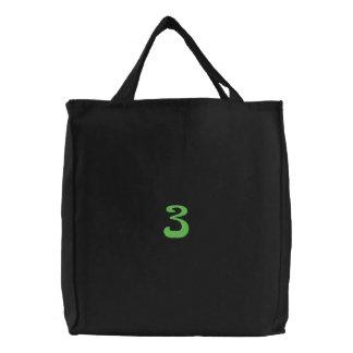 Flower Number 3 Embroidered Bag
