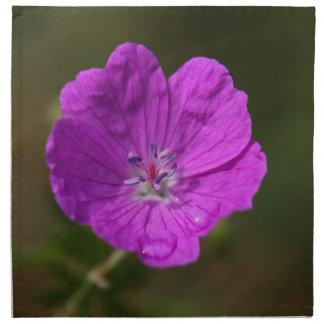Flower of a bloody geranium cloth napkin