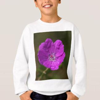 Flower of a bloody geranium sweatshirt