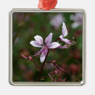 Flower of a burning bush Silver-Colored square decoration