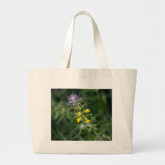 Flower of a crested cow wheat large tote bag