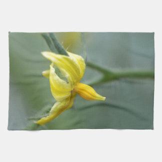 Flower of a Cucumber  plant Tea Towel
