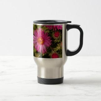 Flower of a New England aster Travel Mug