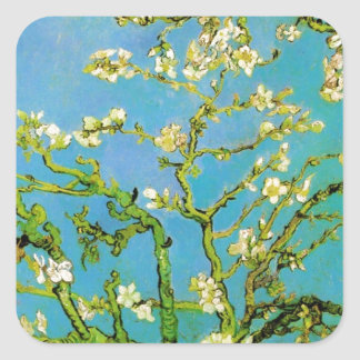 Flower of Almond tree Square Sticker
