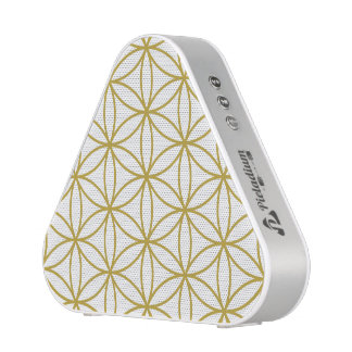 Flower of Life (2-Way) Large Ptn – White & Gold