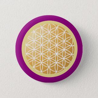 Flower of Life 6 Cm Round Badge