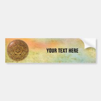 Flower Of Life / Blume des Lebens - ball grid gold Bumper Sticker