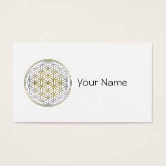 FLOWER OF LIFE / Blume des Lebens - BiColor Business Card