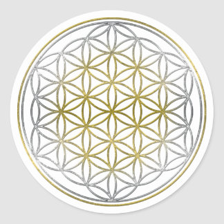 FLOWER OF LIFE / Blume des Lebens - BiColor Round Sticker