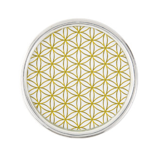 Flower of Life / Blume des Lebens - gold pattern Lapel Pin