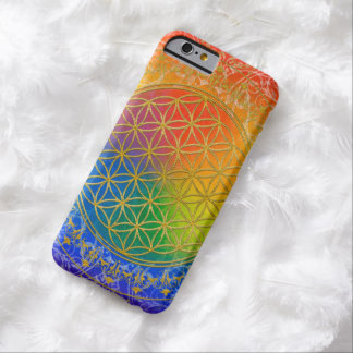 Flower Of Life / Blume des Lebens - GOLD rainbow Barely There iPhone 6 Case