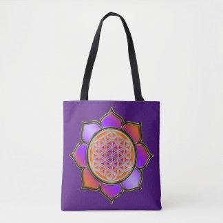 Flower Of Life / Blume des Lebens - lotus violet Tote Bag