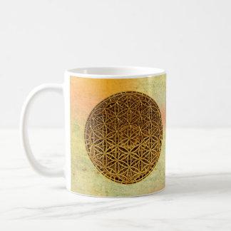Flower Of Life / Blume des Lebens - medal gold Coffee Mug