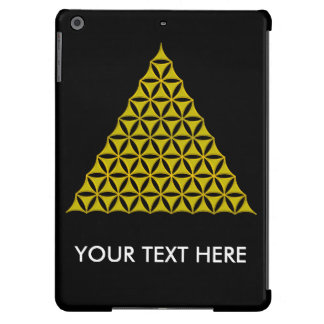 Flower Of Life / Blume des Lebens - pyramid gold Case For iPad Air