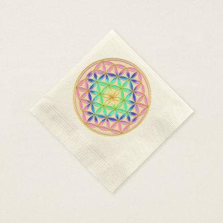 Flower of Life Blume des Lebens Romantic Colors Paper Napkin