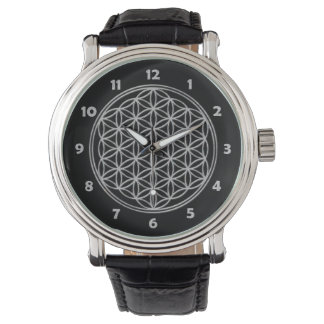 Flower Of Life / Blume des Lebens - shiny crystal Wristwatches