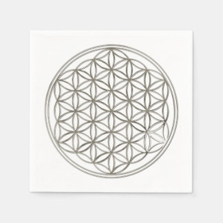 Flower Of Life / Blume des Lebens - SILVER Disposable Napkin