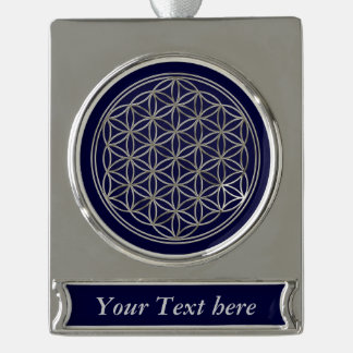 Flower Of Life / Blume des Lebens - silver Silver Plated Banner Ornament